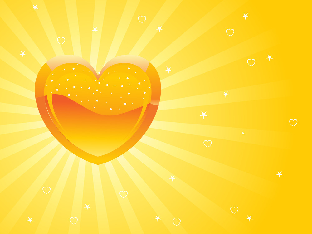 Abstract Pattern Rays Background With Heart