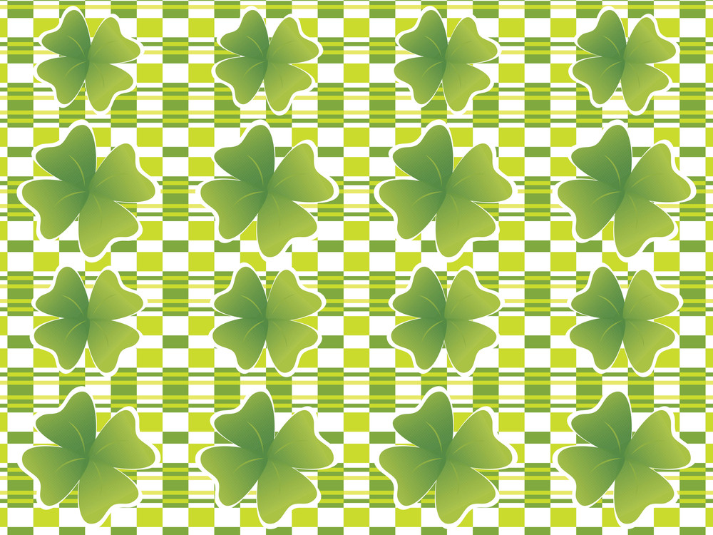 Abstract Pattern St. Patrick's Background With Shaarock 17 March