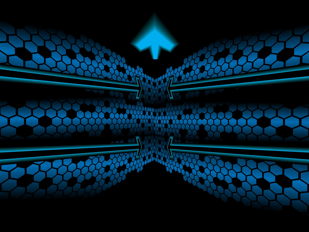 Abstract Pentagon Arrow Background