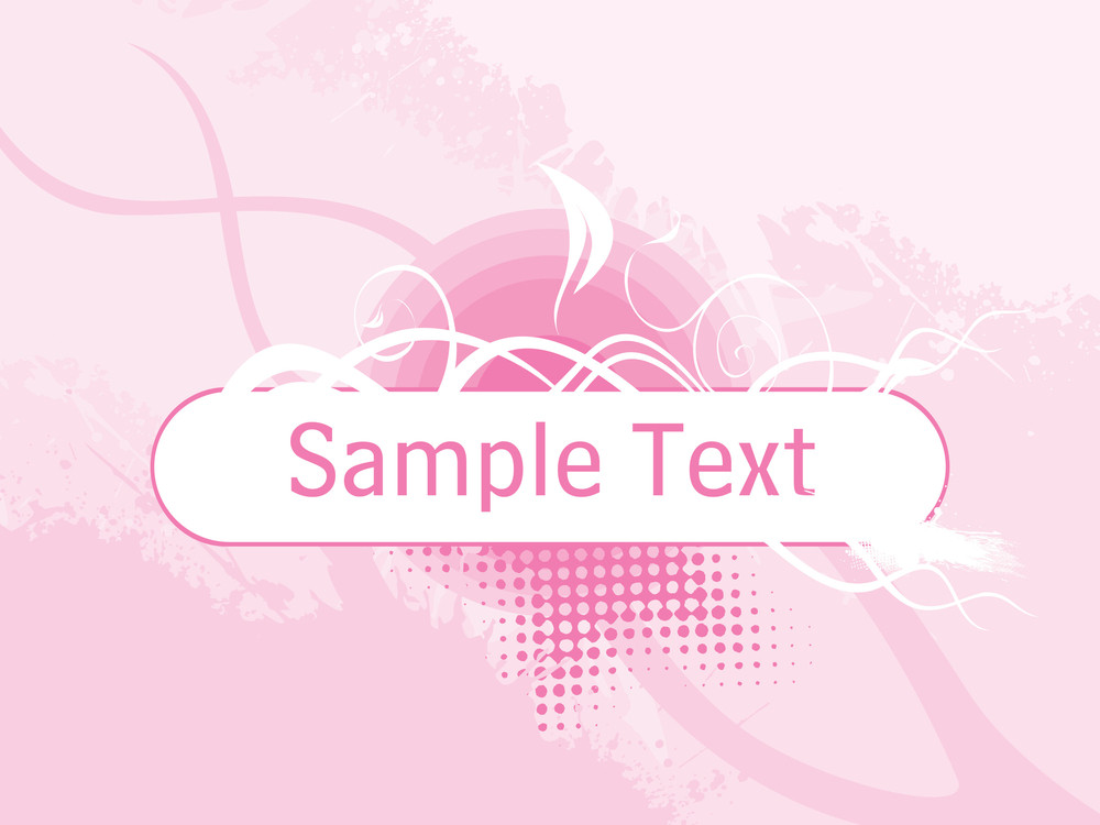 Abstract Pink Floral Background With Place For The Text