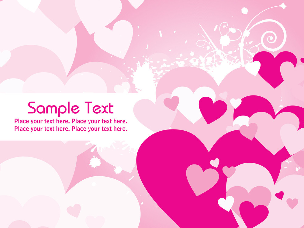 Abstract Pink Valentine Card