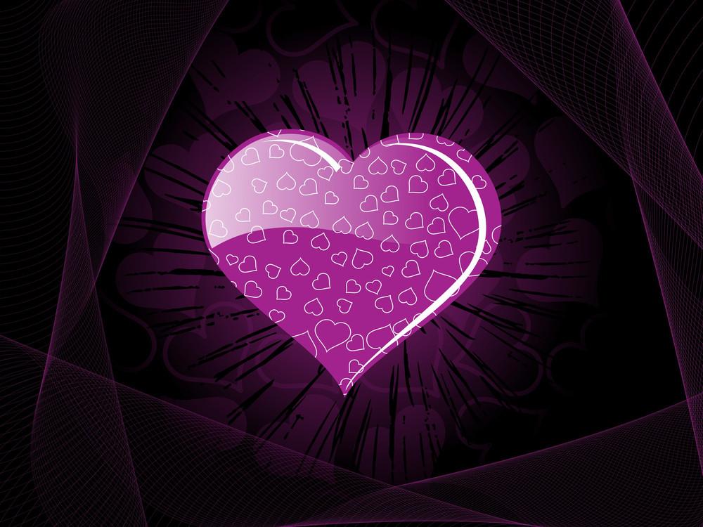 Abstract Purple Retro Design Background