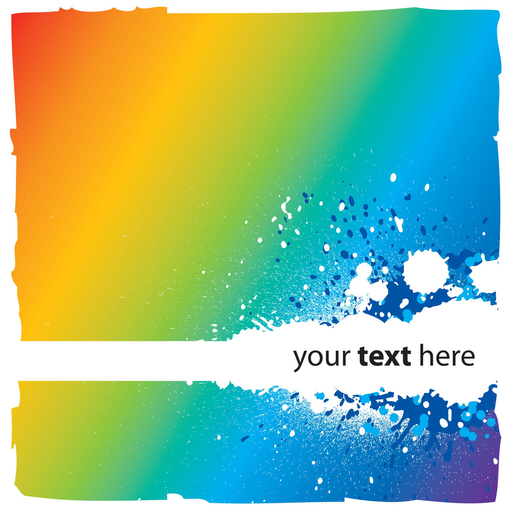 Abstract Rainbow Background With Splatters