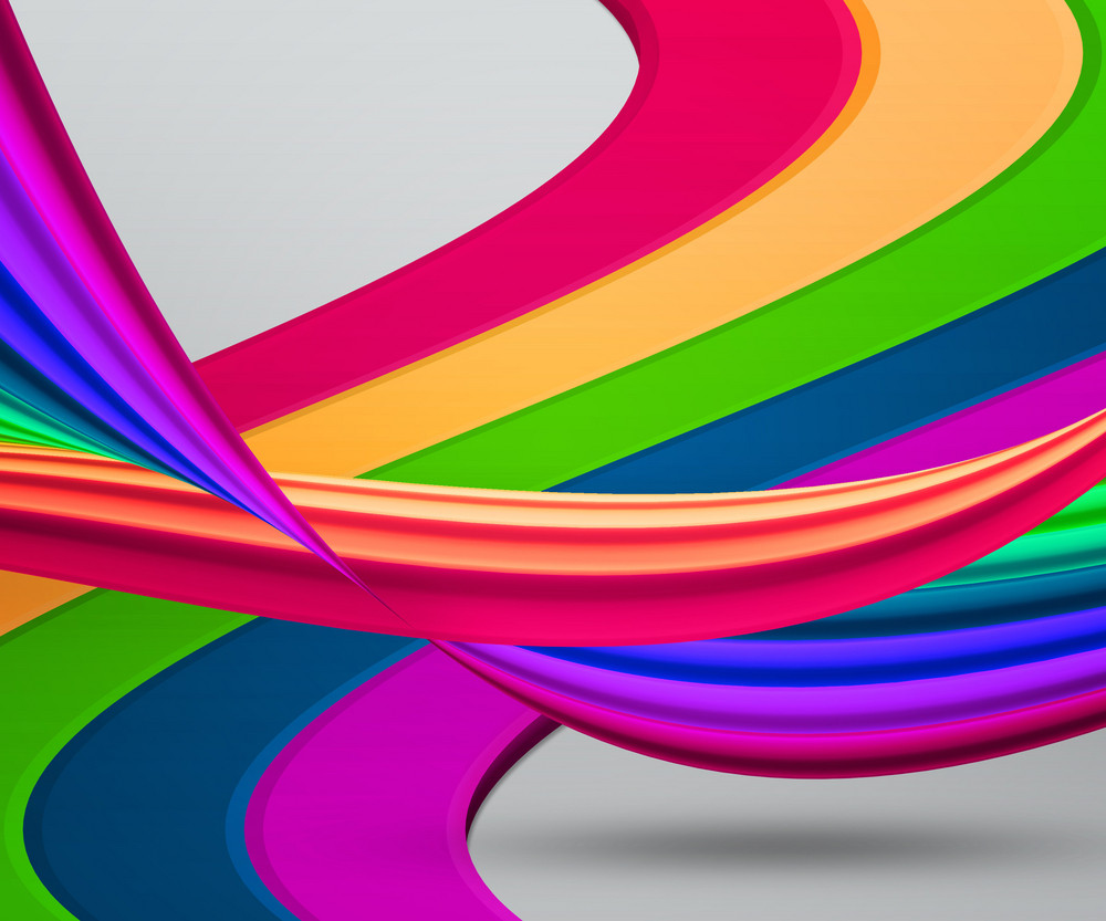 Abstract Rainbow Shapes Background