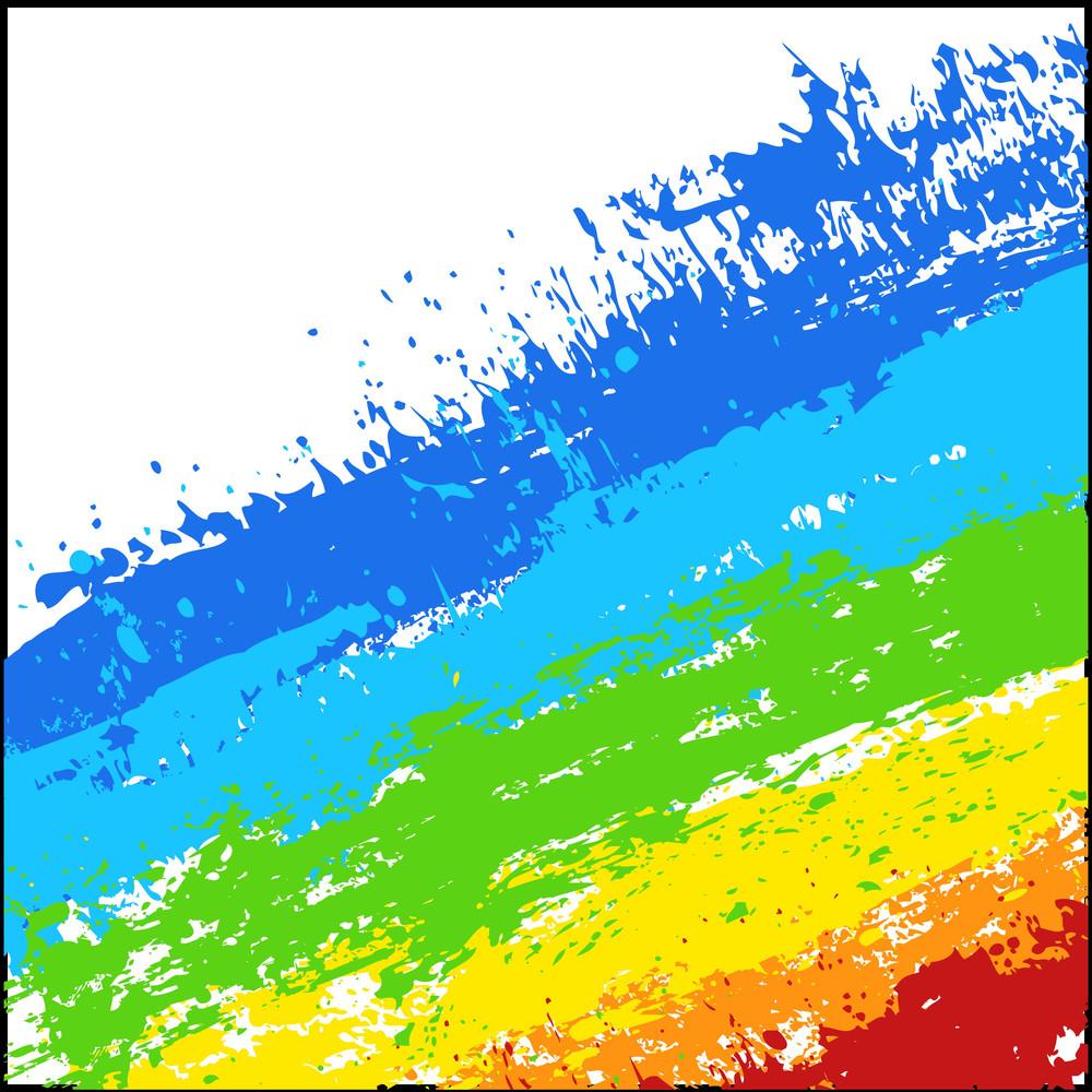 Abstract Rainbow Splash Lines Background