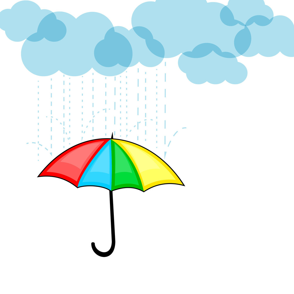 Abstract Rainy Season Background With Clouds