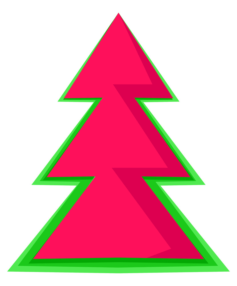 Abstract Red Christmas Tree Design