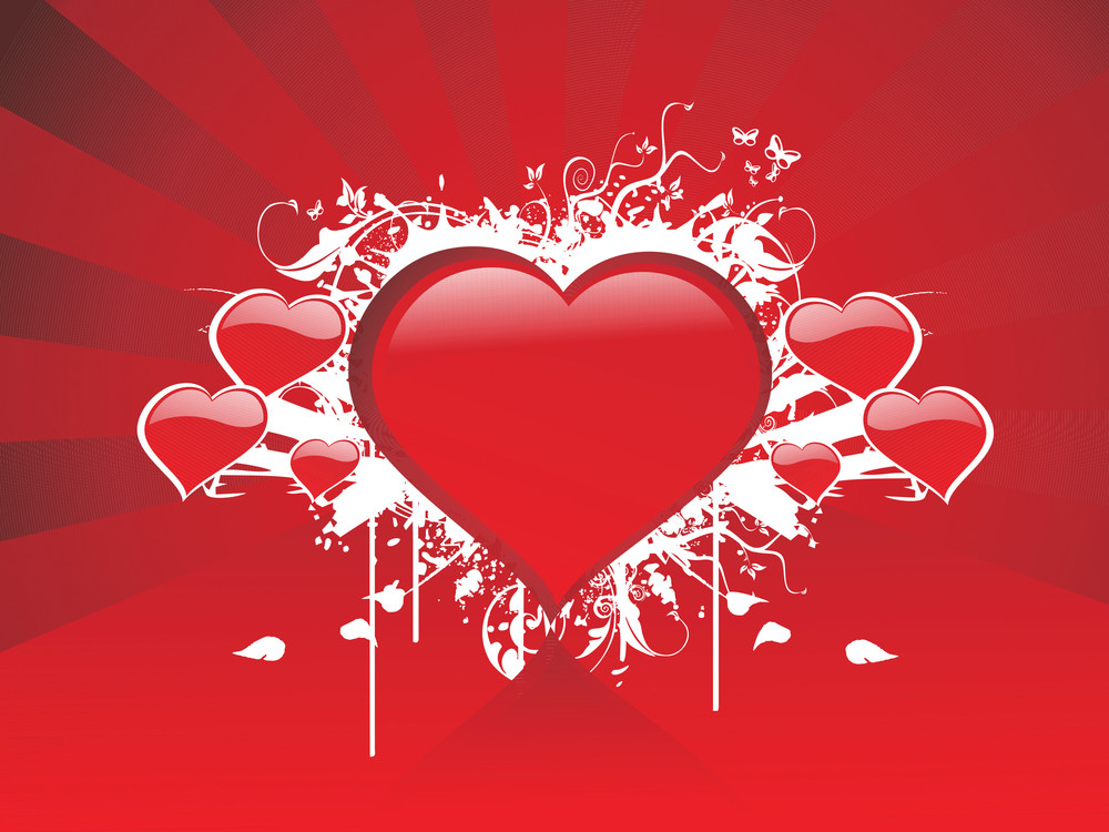 Abstract Red Valentine Background