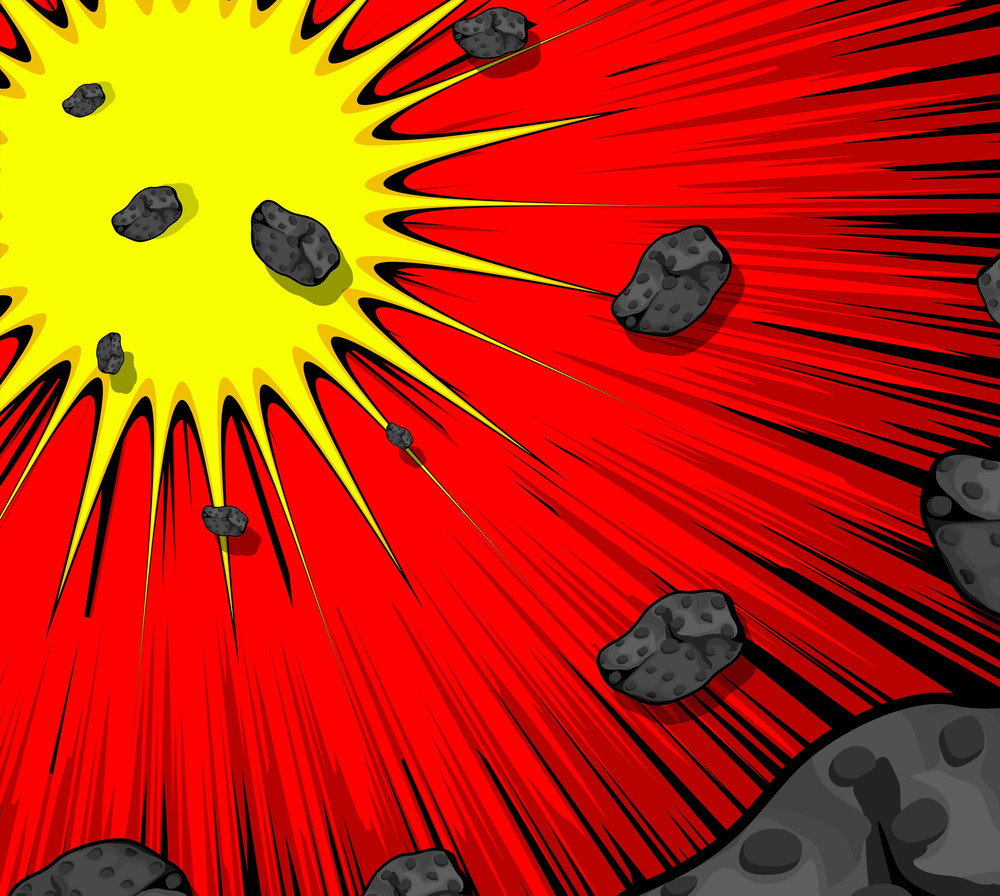 Abstract Retro Asteroids Burst Background