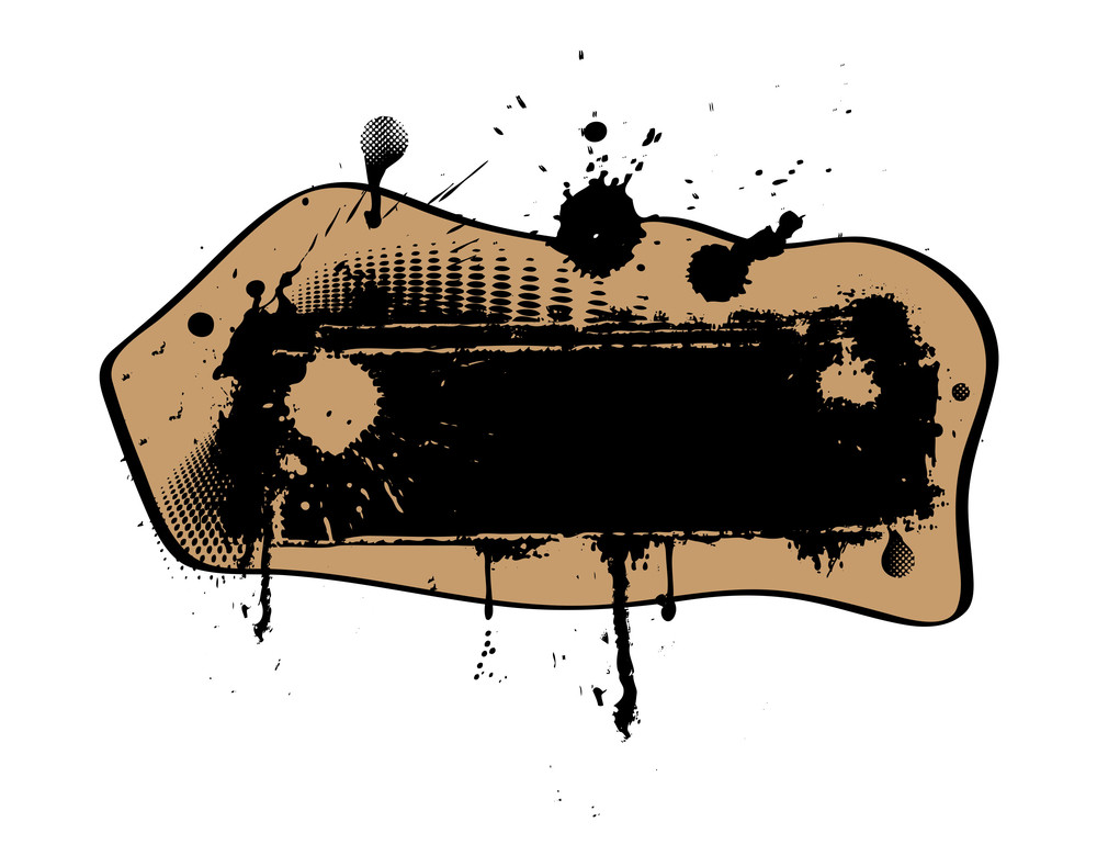 Abstract Retro Grunge Banner
