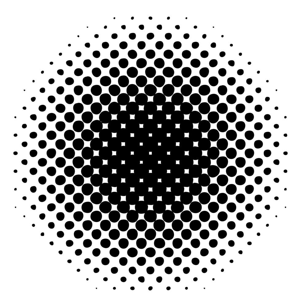 Abstract Retro Halftone Circle Banner