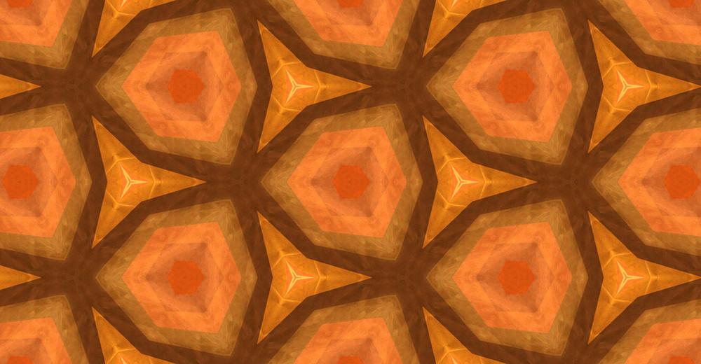 Abstract Retro Kaleidoscope Festive Graphic