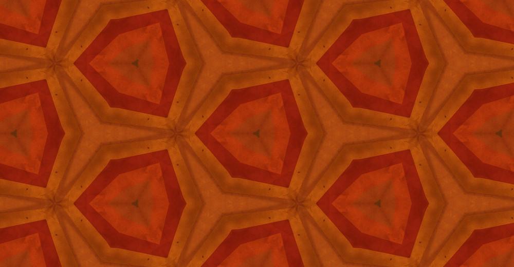 Abstract Retro Kaleidoscope Pattern