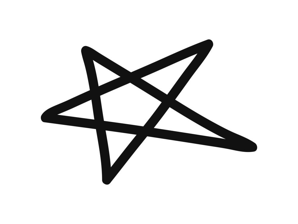 Abstract Retro Star Element Design