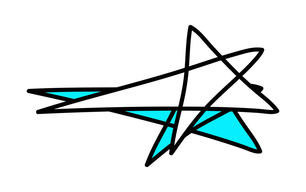 Abstract Retro Stars Design Elements