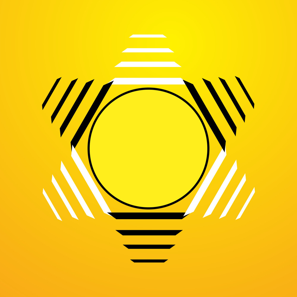 Abstract Retro Sun Design Icon