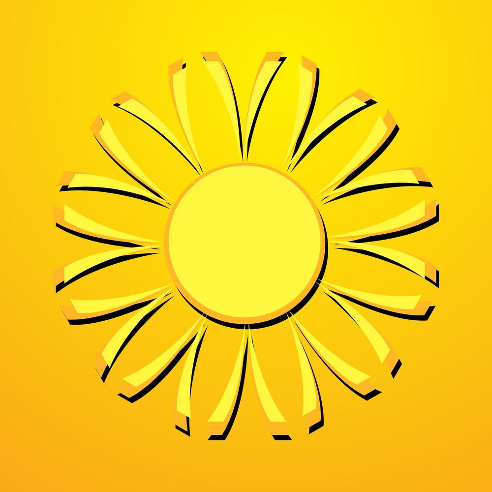 Abstract Retro Sun Design