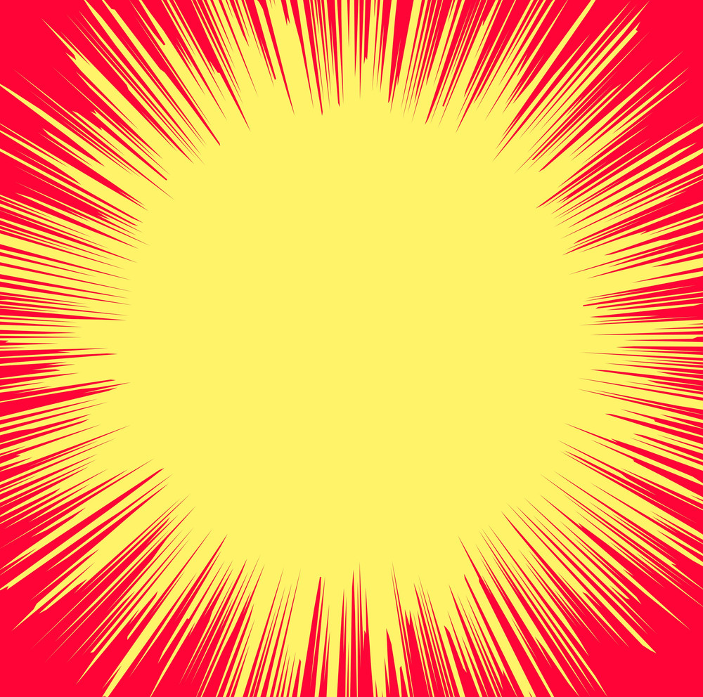 Abstract Retro Sunburst Banner