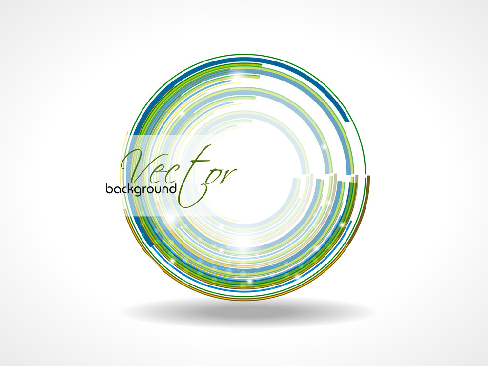 Abstract Retro Technology Circles Vector Background .