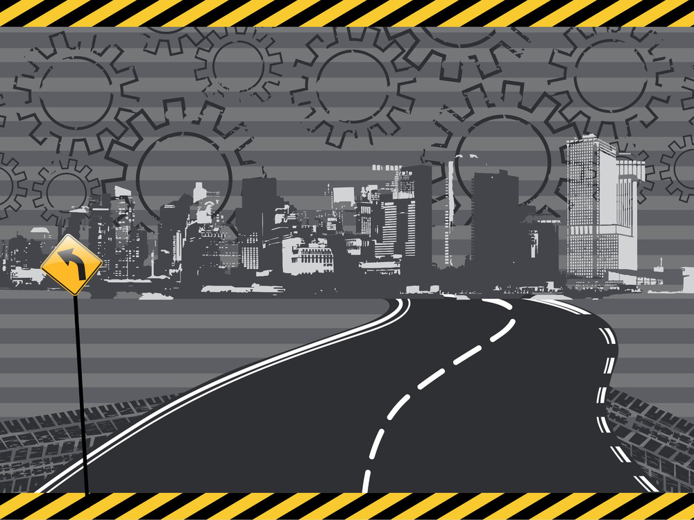 Abstract Road Sign Background