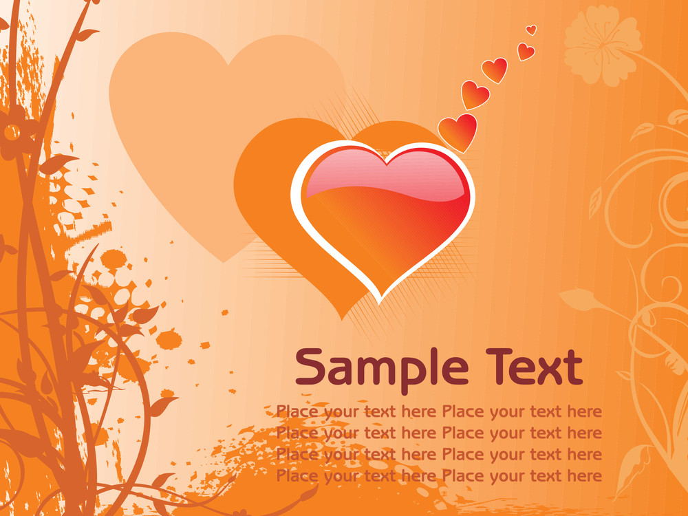 Abstract Romantic Vallentine Text
