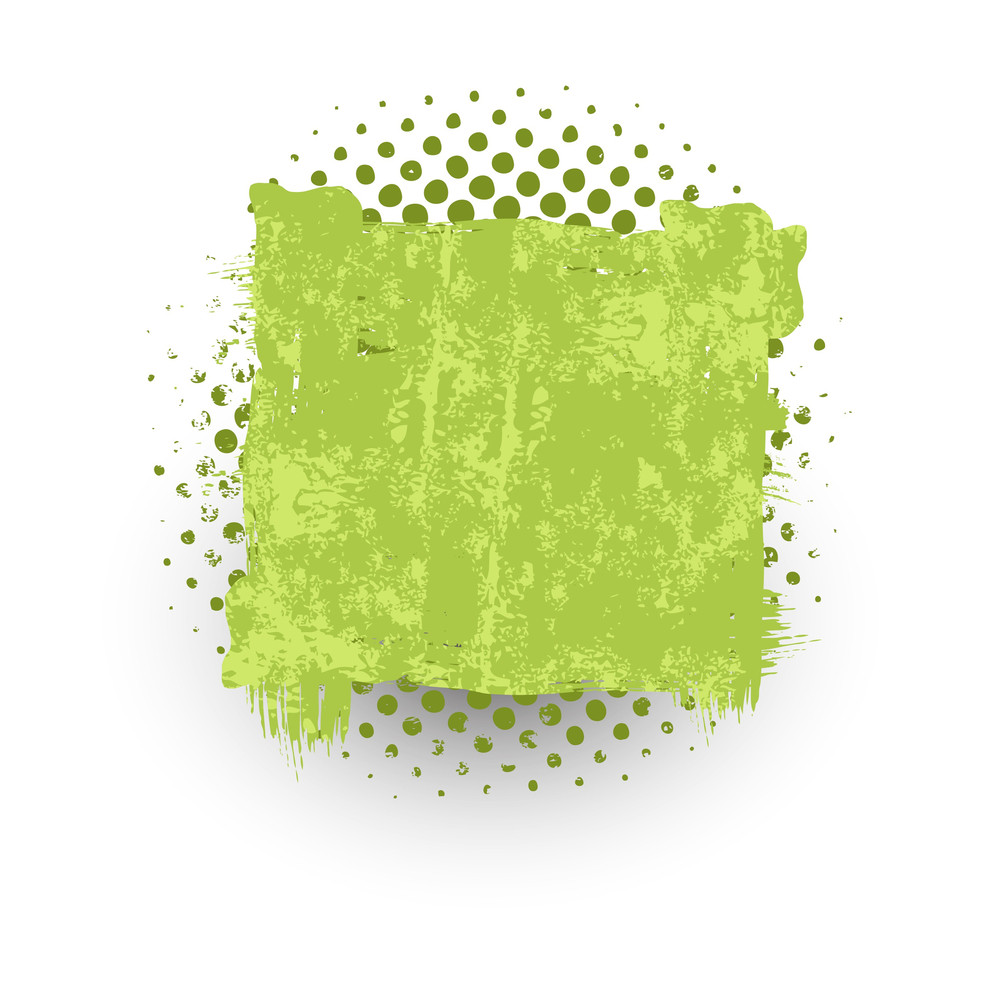 Abstract Rough Grunge Halftone Banner