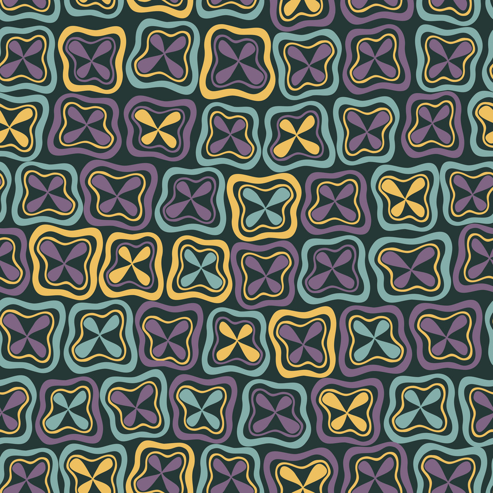 Abstract Seamless Pattern Ornament. Mosaic Seamless Texture