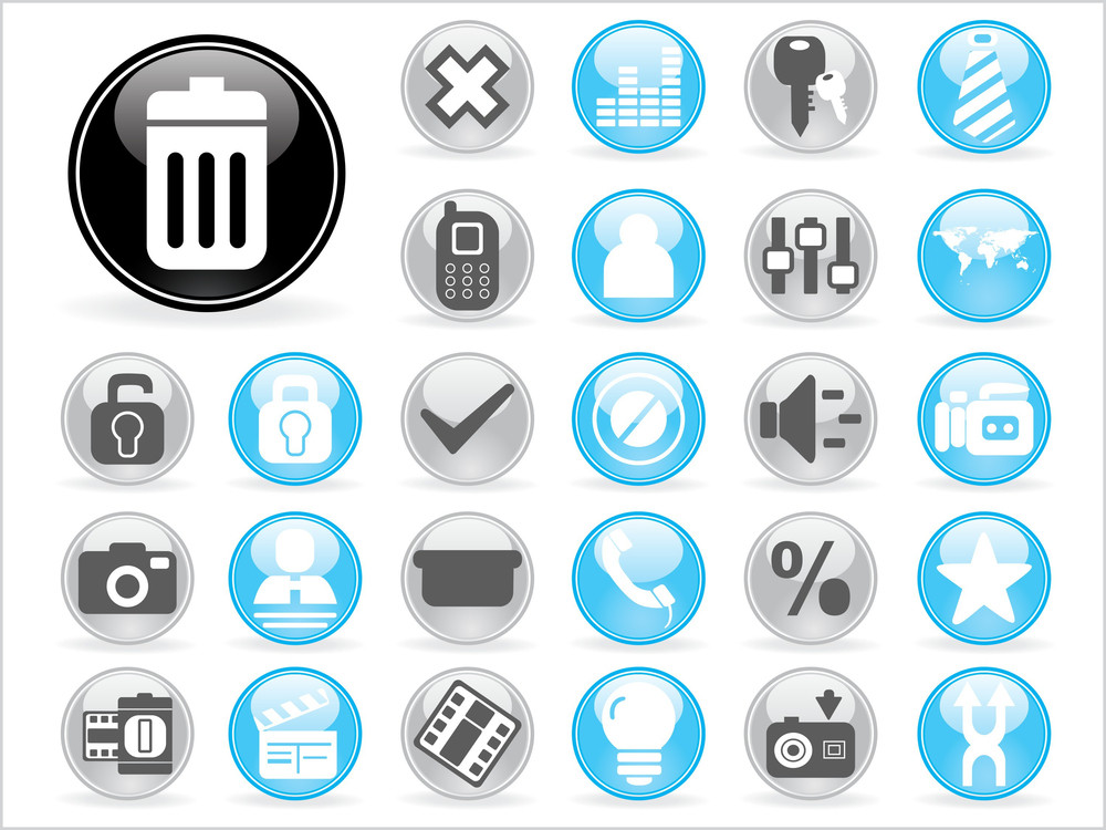 Abstract Set Of Icons