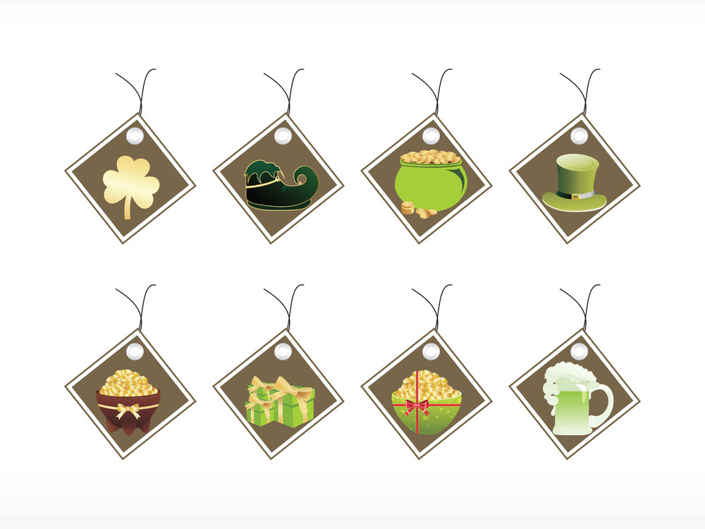 Abstract Set Of St. Patrick's Day Tags