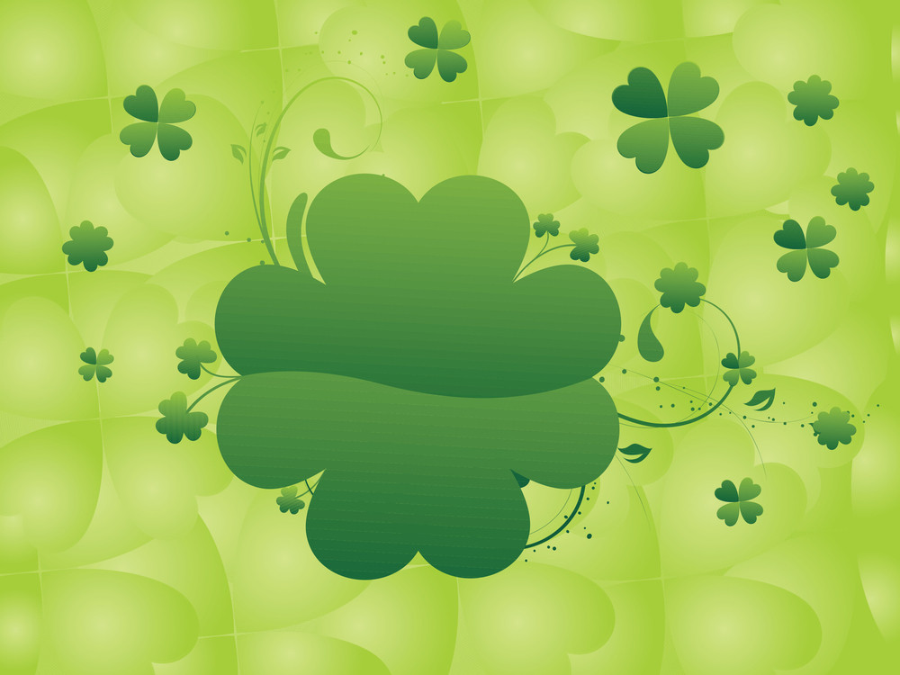 Abstract Shamrock Bloom Design Background 17 March