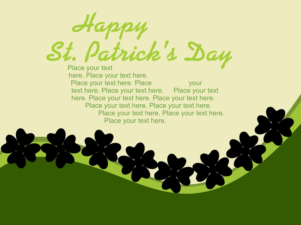 Abstract Shamrock Flower Greeting