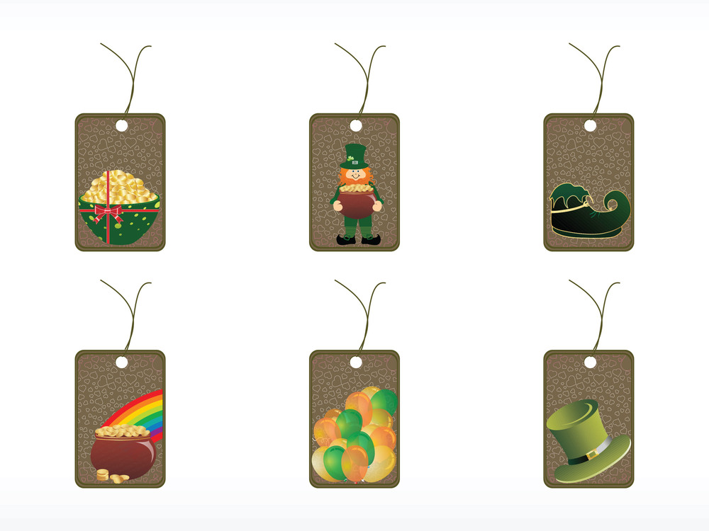 Abstract Shape Patrick Day Tags
