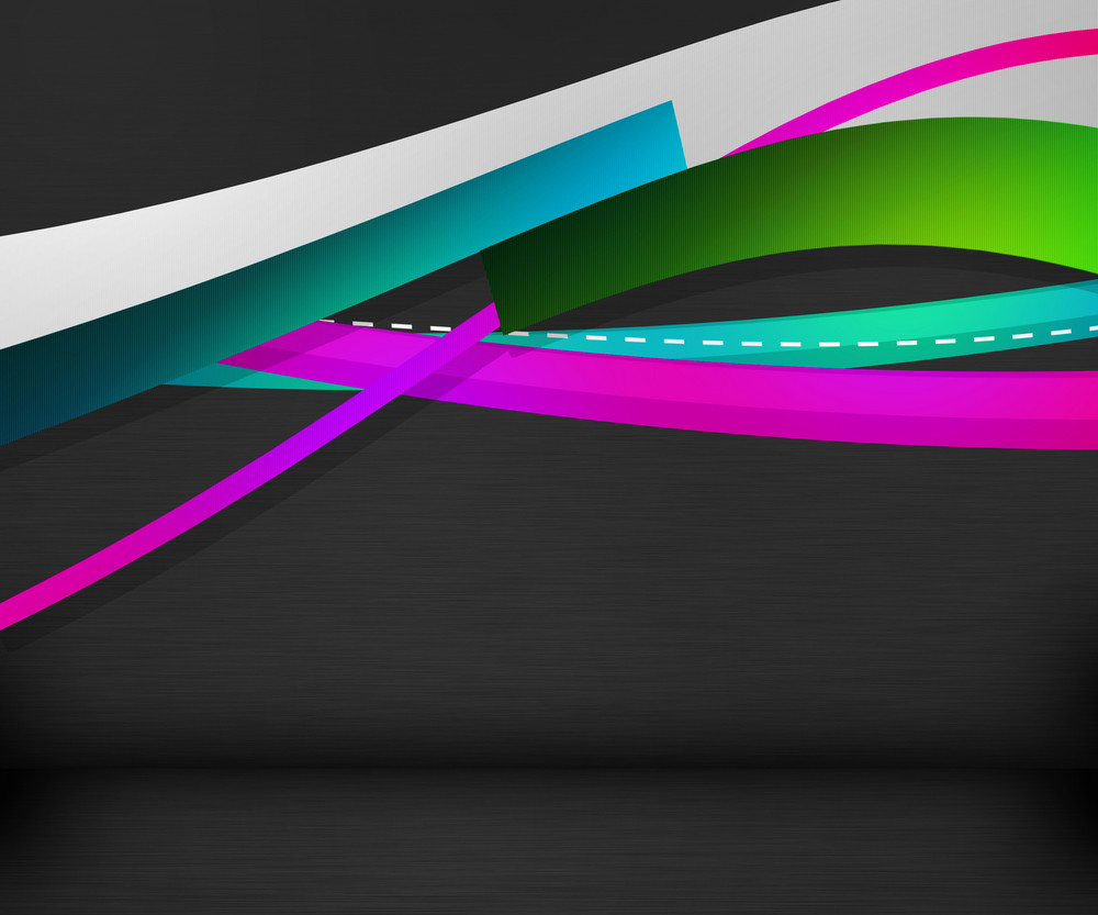 Abstract Shapes Dark Background