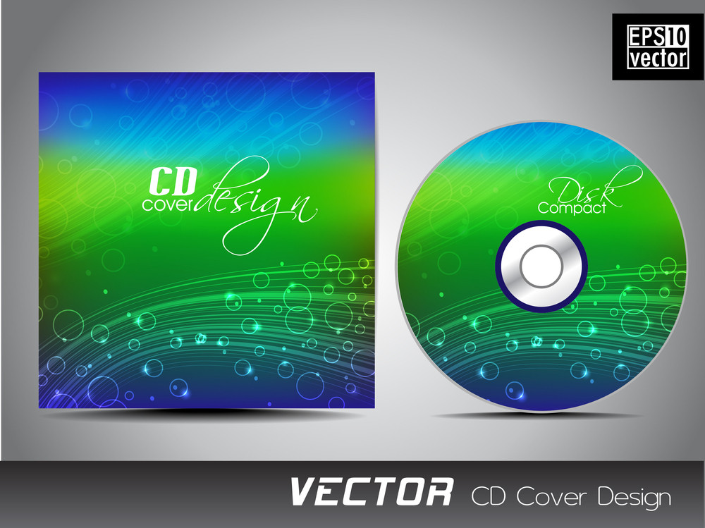 Abstract Shiny Cd Cover.