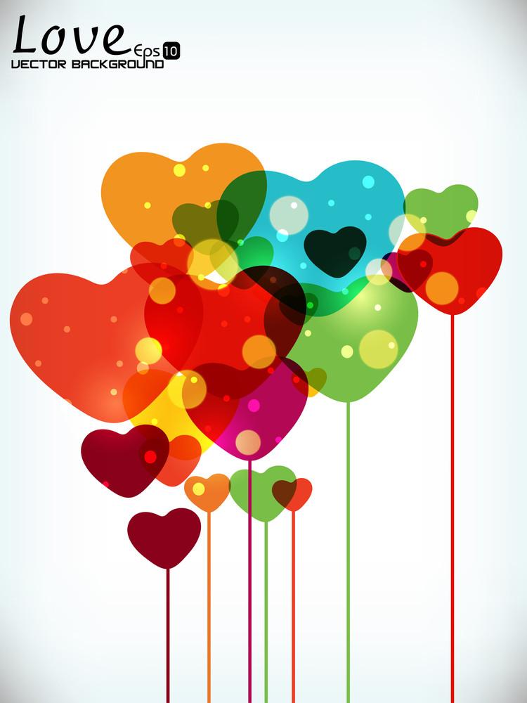 Abstract Shiny Heart.