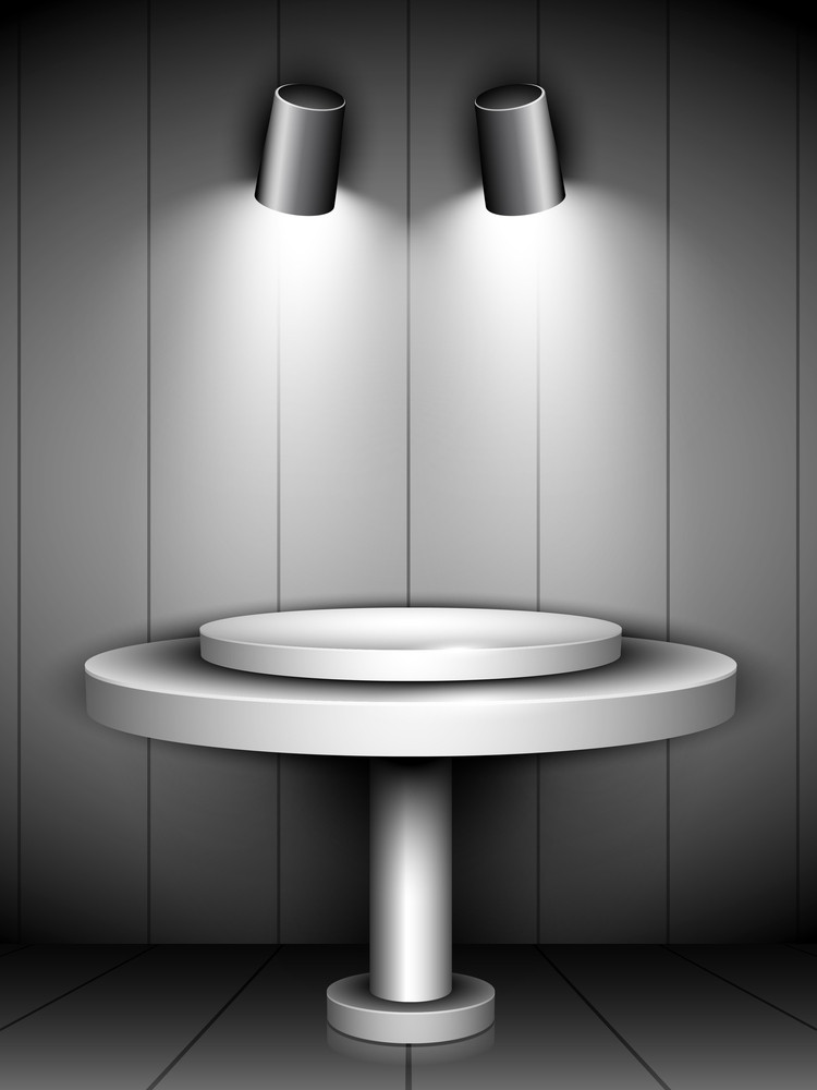 Abstract Shiny Presentation Of Grey Podium 10