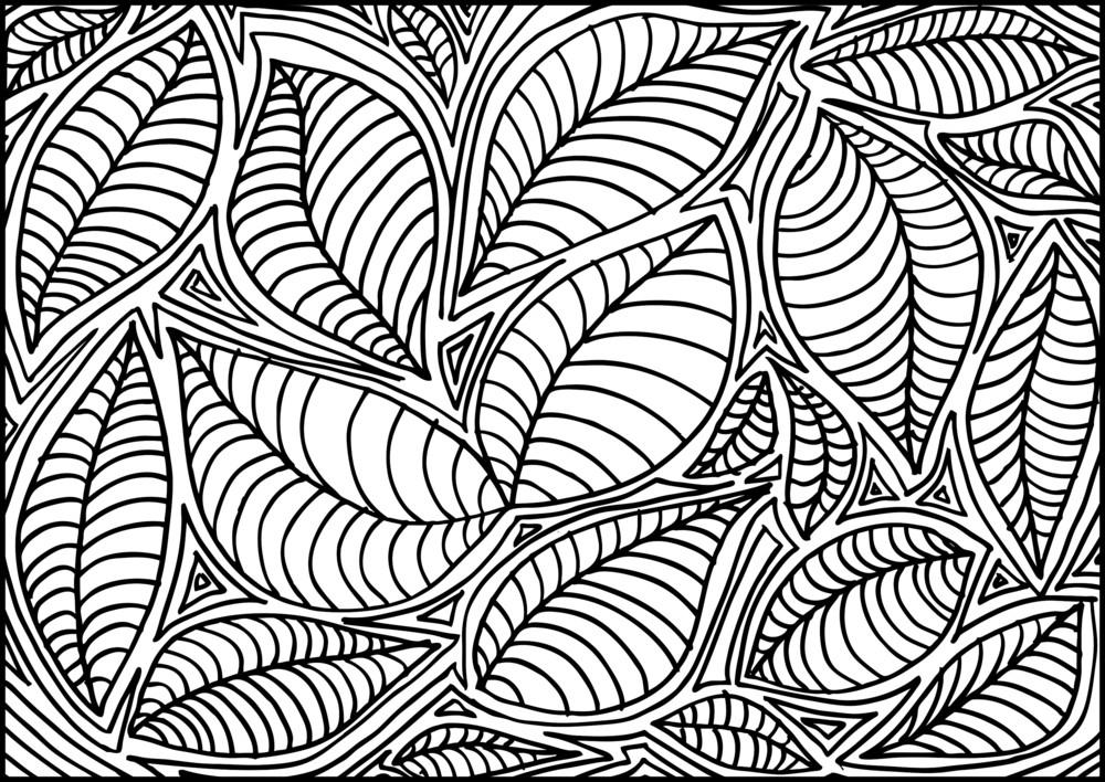 Abstract Sketch Of Leaf Background. Vector Illustration