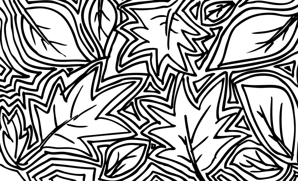Abstract Sketch Of Leaf Background. Vector Illustration