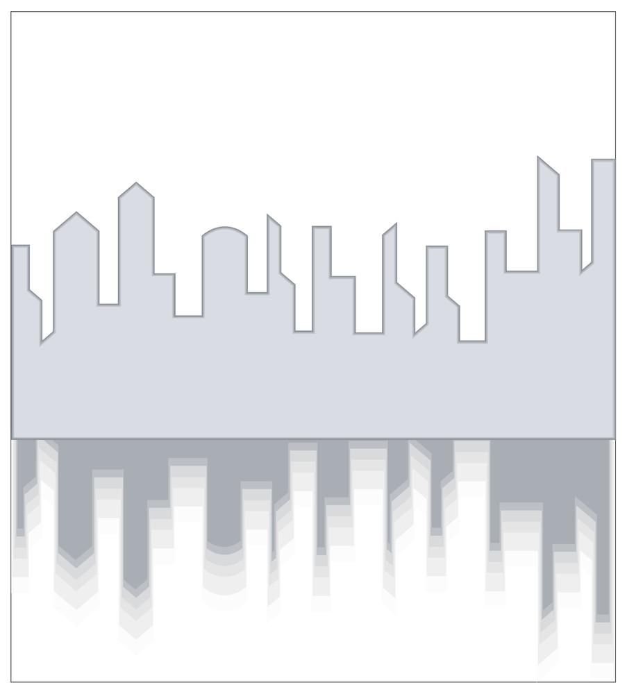 Abstract Skyline Reflection Background