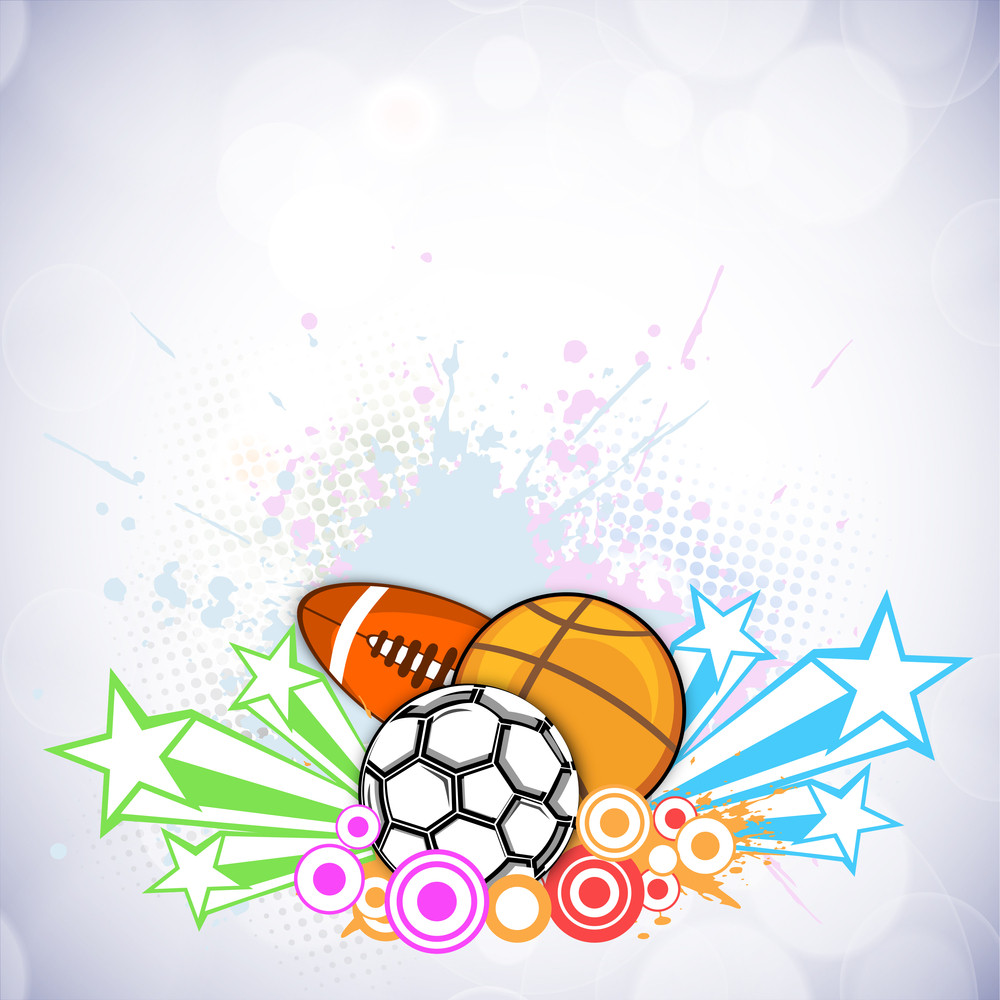 Abstract Sports Background. Royalty-Free Stock Image