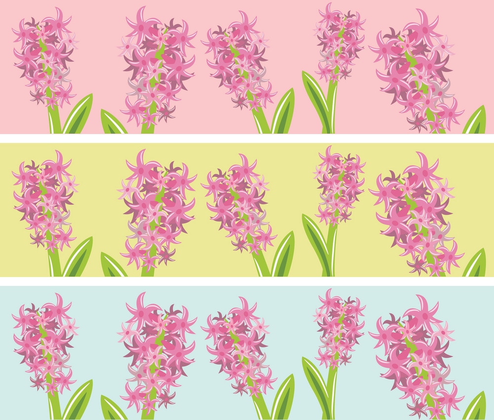 Abstract Spring Illustration With Lots Of Flowers