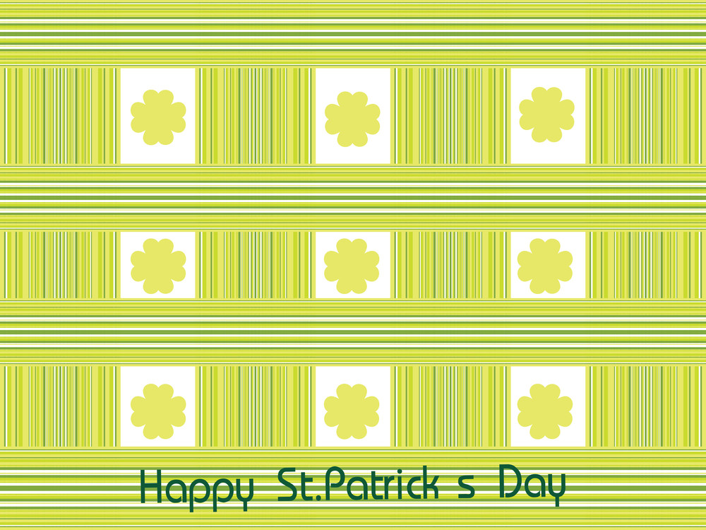 Abstract St. Patricks Day Decoration
