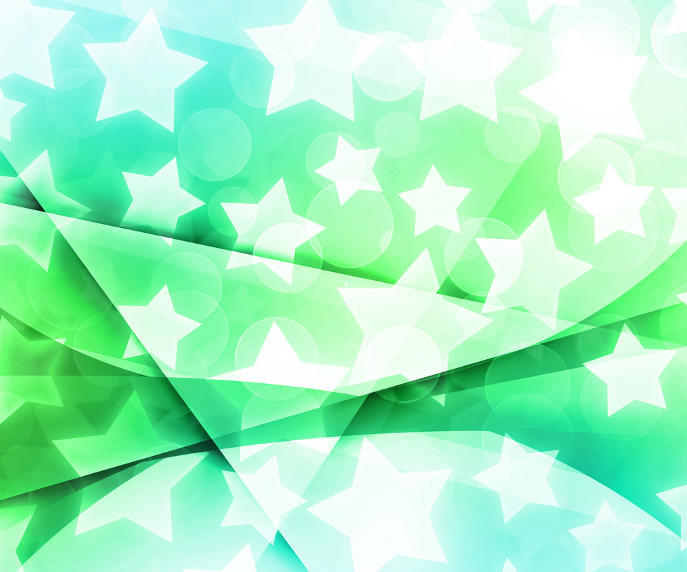 Abstract Stars Green Background