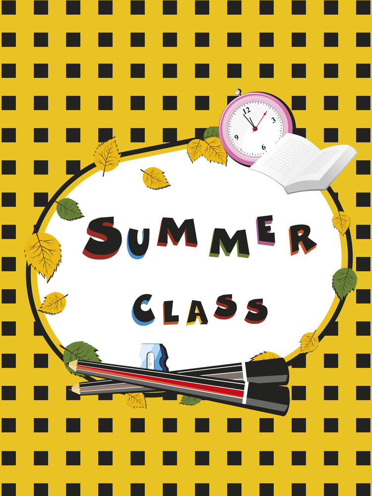 Abstract Summer Class Concept Background