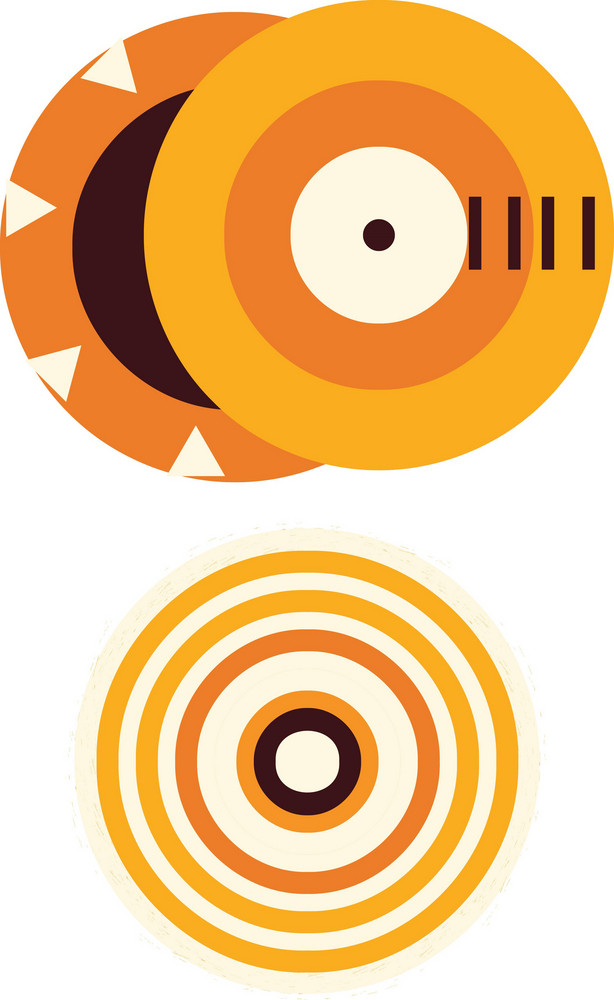 Abstract Summer Vector Element