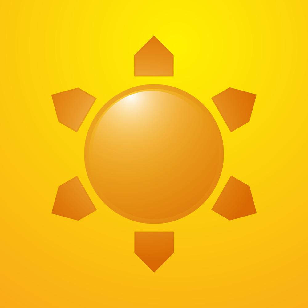 Abstract Sun Icon Vector