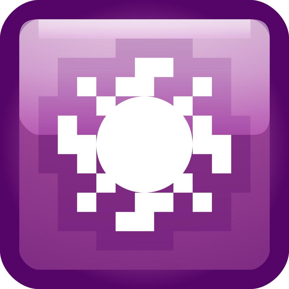 Abstract Sun Tiny App Icon