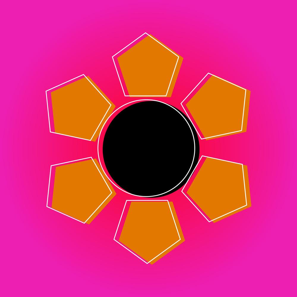 Abstract Sun Vector Design