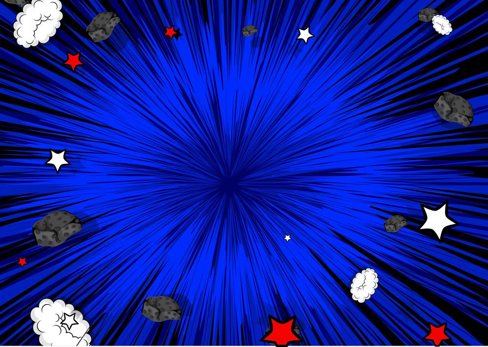 Abstract Sunburst Asteroid Stones Background