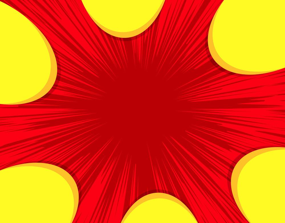 Abstract Sunburst Background Design